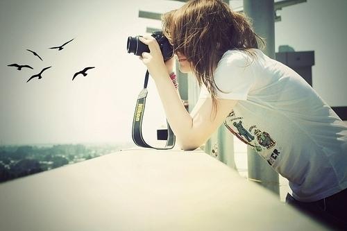 cô gái mê chụp hình