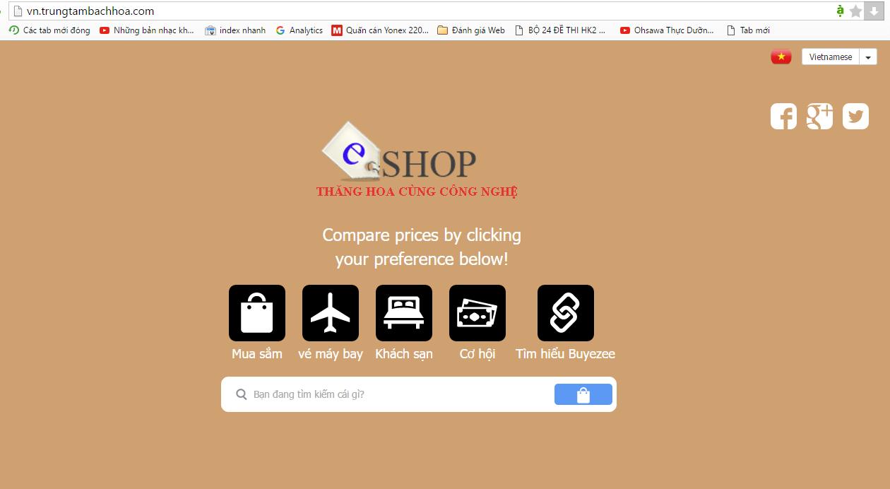 Thiết lập trang web bán hàng hoàn chỉnh với buyezee