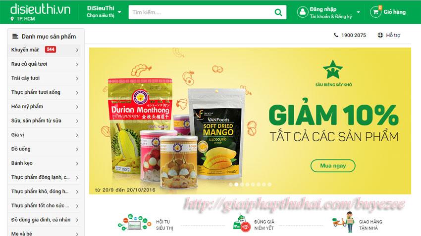 Website đi siêu thị trên buyezee