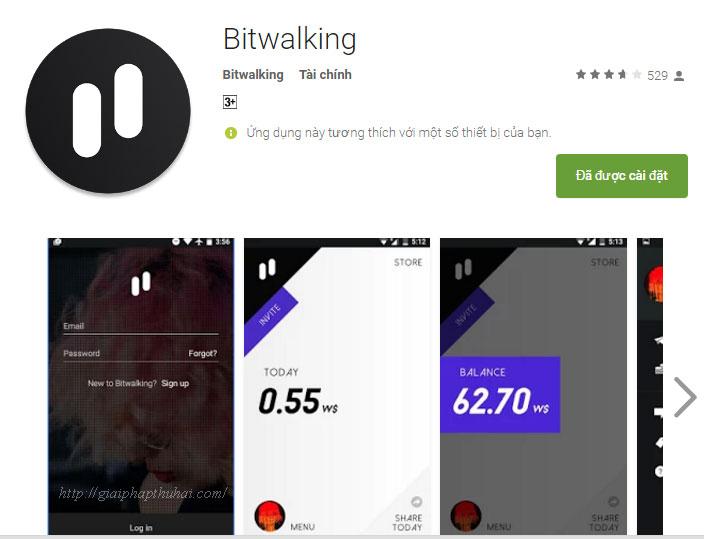 Tải ứng dụng bitwalking trên androind