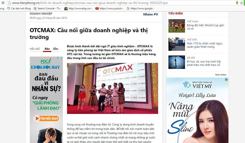 Otcmax kết nối doanh nghiệp
