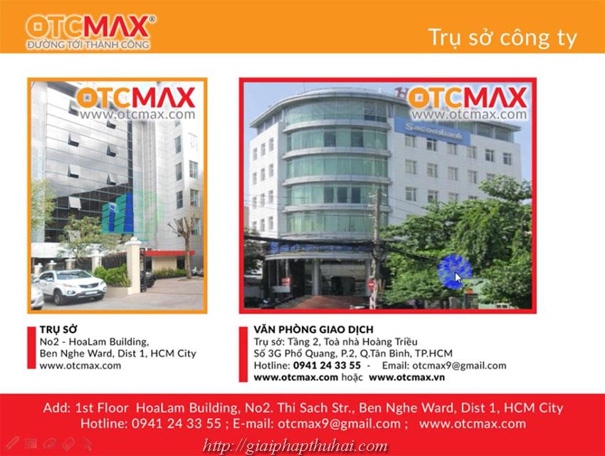 trụ sở, địa chỉ công ty Otcmax