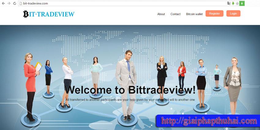 Sân chơi cho nhận Bit Tradeview có webiste là bit-tradeview.com