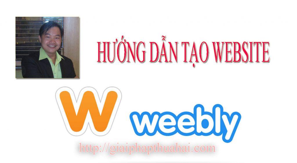 Hướng dẫn làm website với Weebly