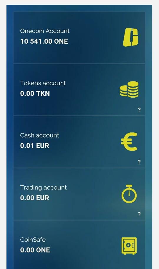 Bán gói onecoin cho nhà đầu tư