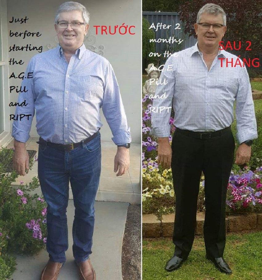 kết quả quá khác biệt sau 2 tháng dùng age pill