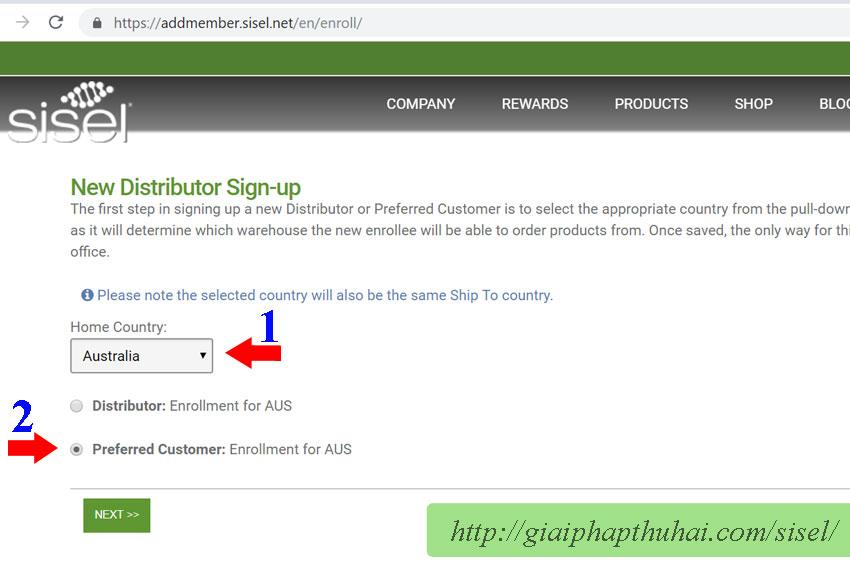 """Chọn """"Preferred Customer"""" để đăng ký khách hàng ưu đãi"""