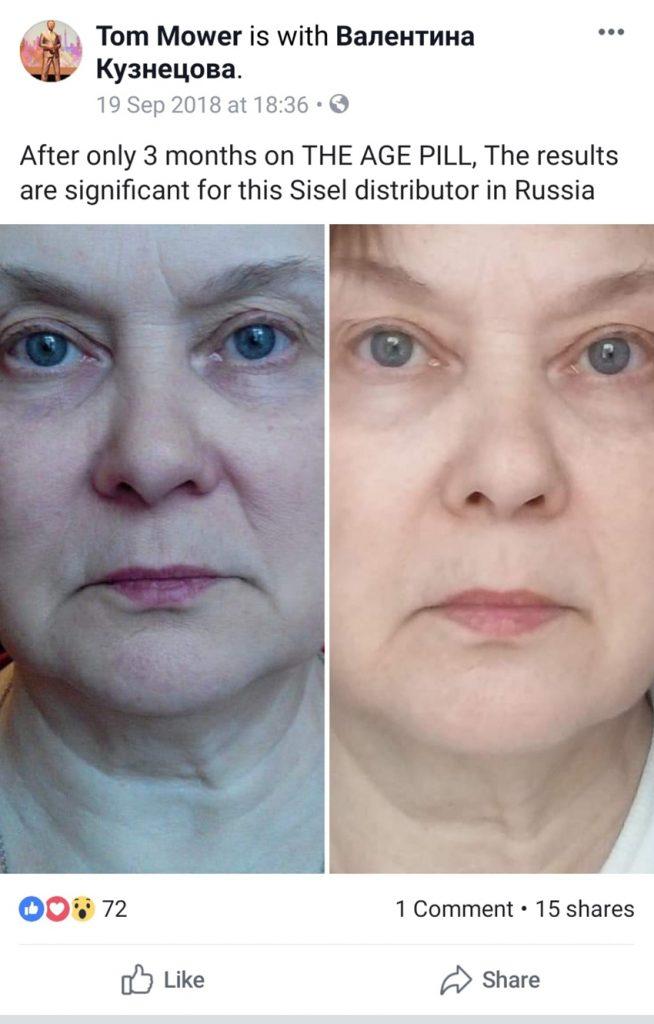 khách hàng ở Nga sử dụng AGE Pilll
