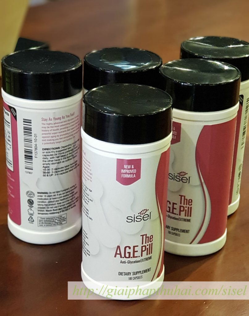 5 hộp sản phẩm the age pill của sisel