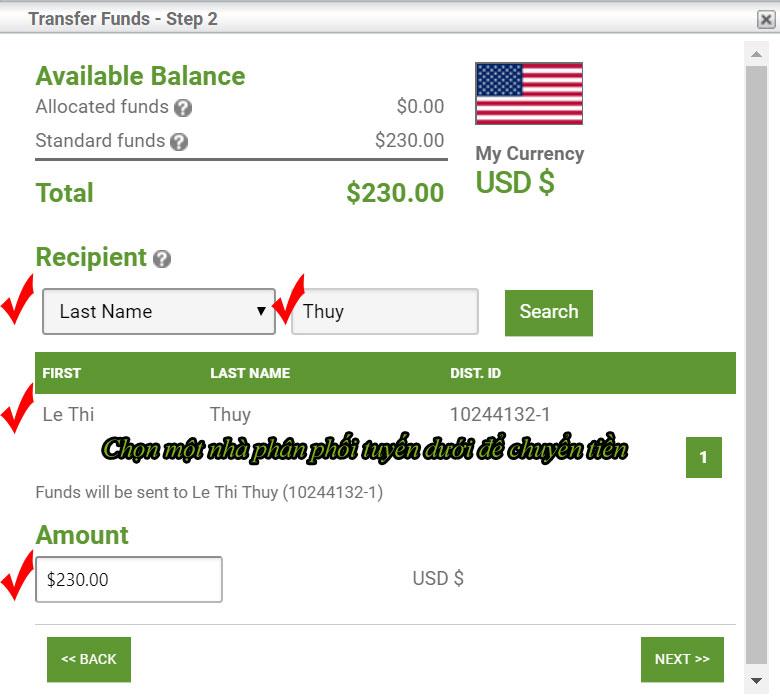 Cách chuyển tiền trực tiếp xuống cho tuyến dưới của bạn tại SISEL INTENRATIONAL