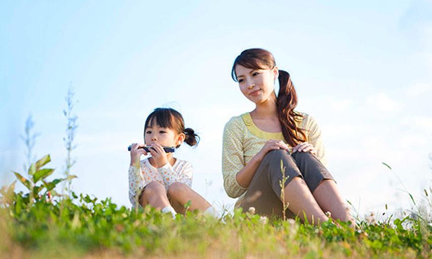 Hiền hòa và thoải mái với 2 mẹ con