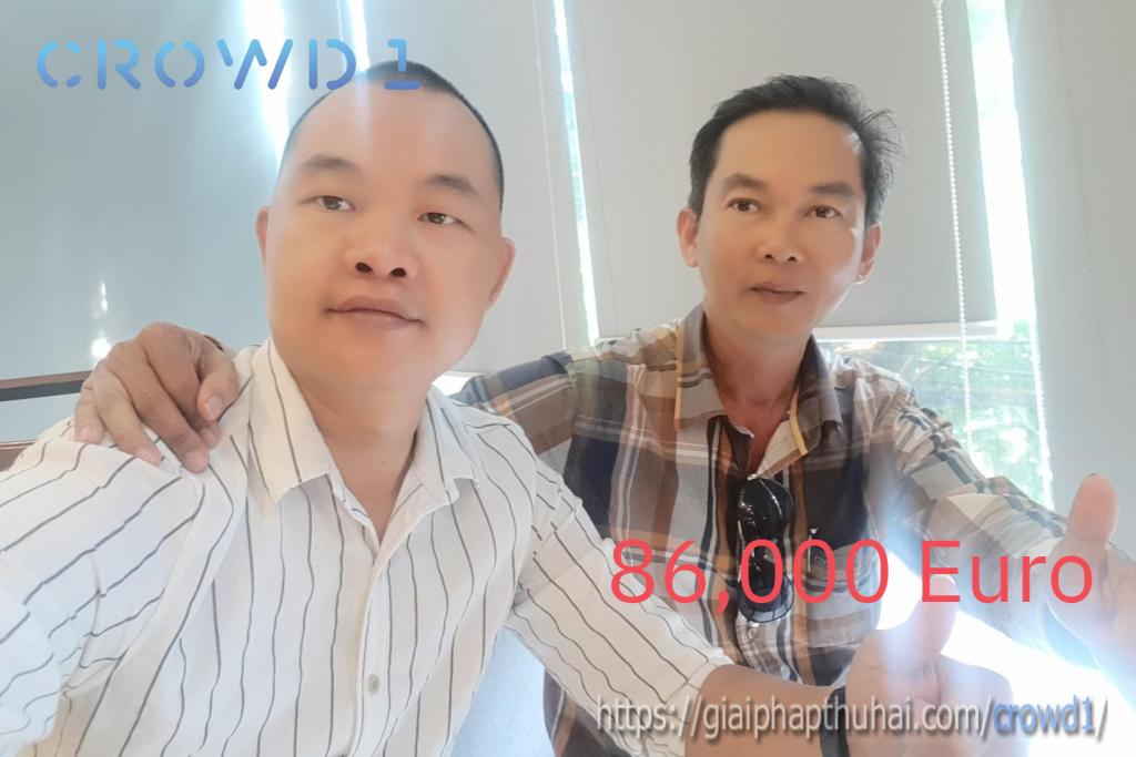 Anh Phi Hùng có mức thu nhập 86,000 euro chỉ sau 2 tháng làm việc với crowd1
