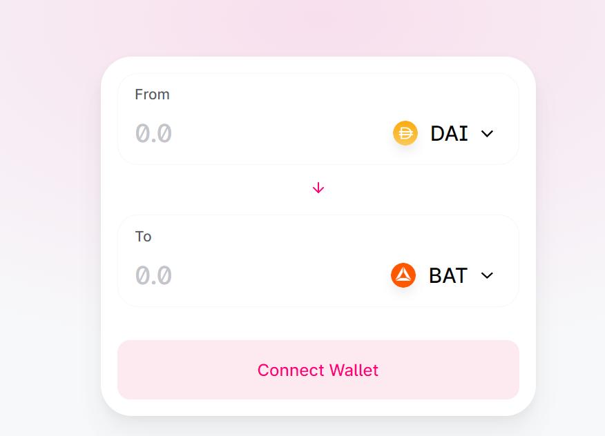 UniSwap DAI to BAT